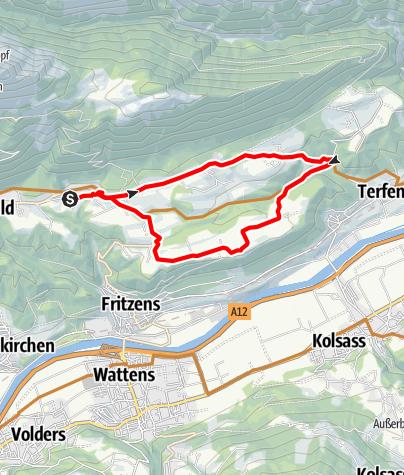 Karte / Tour Gnadenwald - Maria Larch