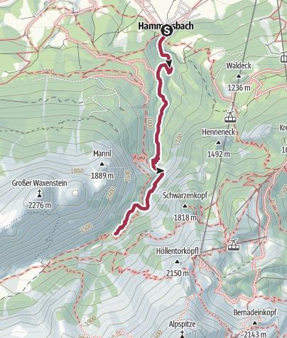 Karte / Durch die Höllentalklamm
