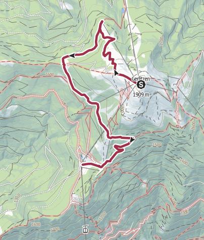 Karte / Wandern auf der Gerlitzen Alpe - Am Kostale Weg zu den kulinarischen Spezialitäten der Region