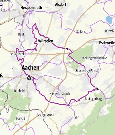 Karte / Aachener Burgenrunde (Süd)