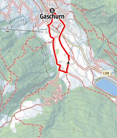 Karte / Gaschurn - Klusertobel