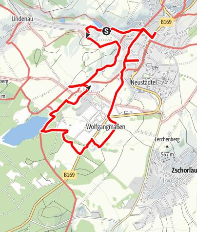 Karte / Schneeberg-Neustädtler Bergbaulehrpfad