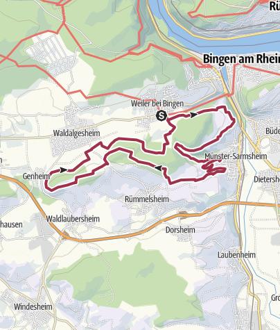 Karte / 30. September 2018: Wandererlebnis Rhein-Nahe Schleife