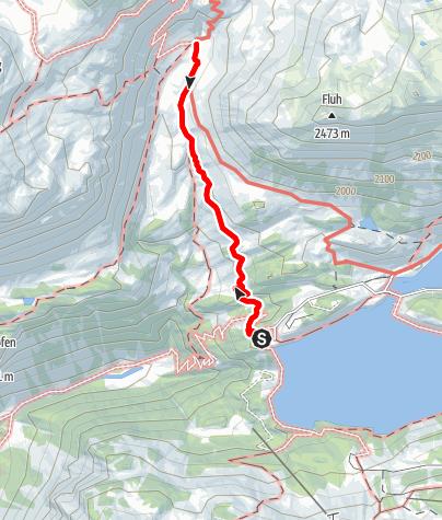 Karte / Vom Kopssee zur Alpe Verbella und retour