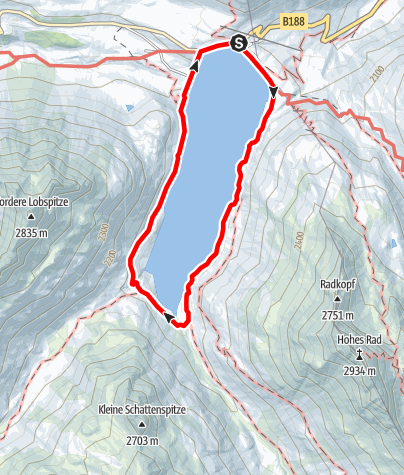 Karte / Rundgang Silvrettasee