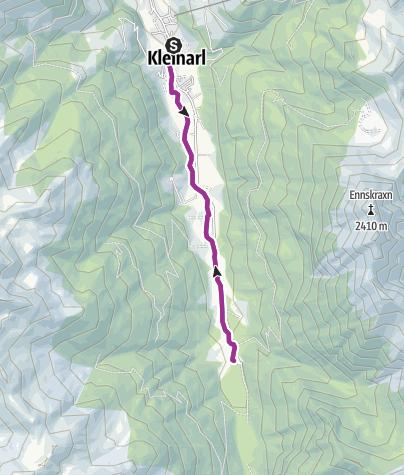 Karte / Familien Radtour Kleinarl bis Jägersee