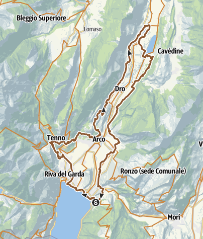 Map / 731. Anello Garda Sarca (Cross Country)