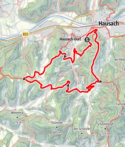 Map / Genießerpfad - Hausacher Bergsteig