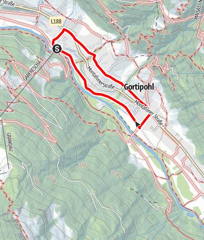 Karte / Garfrescha - Gortipohl