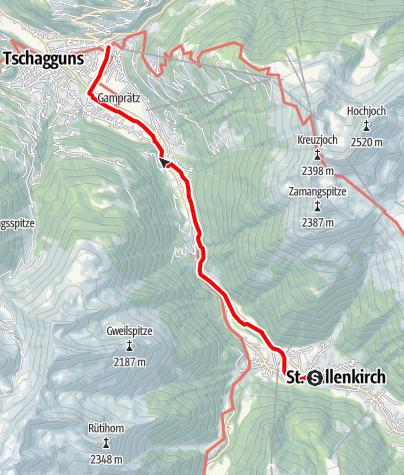 Karte / St. Gallenkirch - Schruns