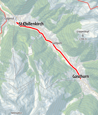 Karte / St. Gallenkirch - Gaschurn