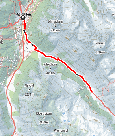 Karte / Zur Vergaldaalpe