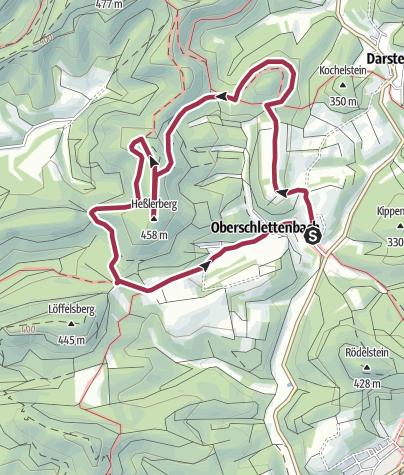 Karte / Oberschlettenbacher Höhenweg - kleine Tour