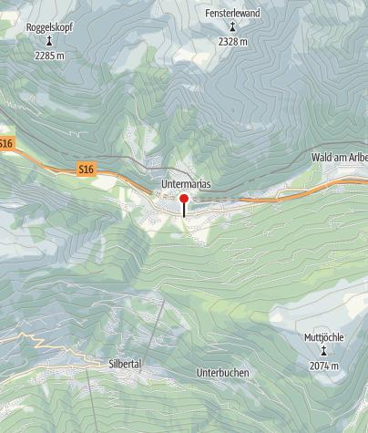 Karte / Dalaas, Kirche Hl. Kreuz