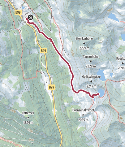 Karte / Obertauern: Twenger Almsee