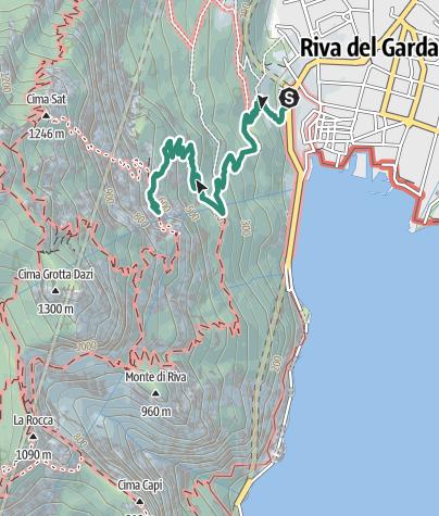 Karte / Der Bastione und Santa Barbara, die Herrschaften von Riva del Garda