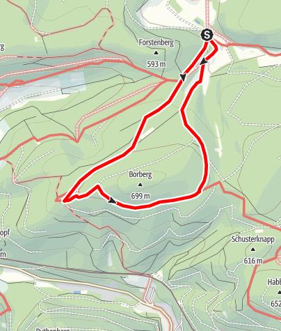 Karte / Brilon - Rund um den Borberg