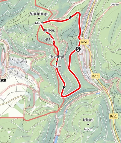 Karte / Brilon-Walder Gipfeltour