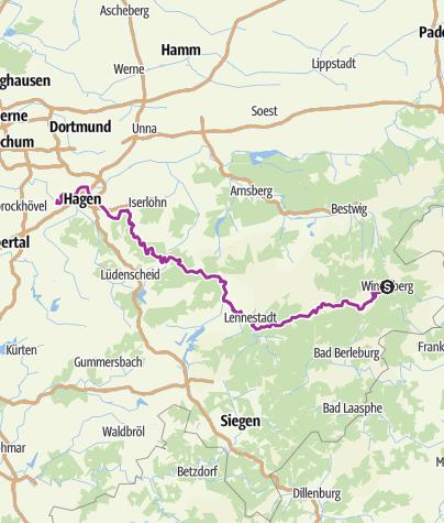 Karte / Lenneroute