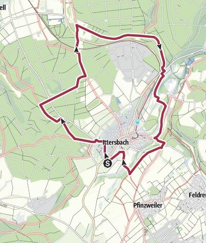 Karte / Mit dem Kuckuck rund um Ittersbach