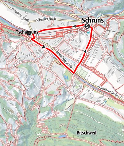 Karte / Schruns - Litzpromenade - Aktivpark