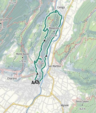 Karte / Auf Gipfeltour hoch über dem Sarcatal (Colodri - Colt)