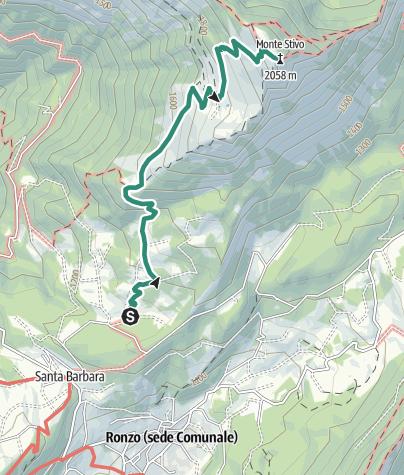 Cartina / Un classico del Garda Trentino: sulla cima del Monte Stivo