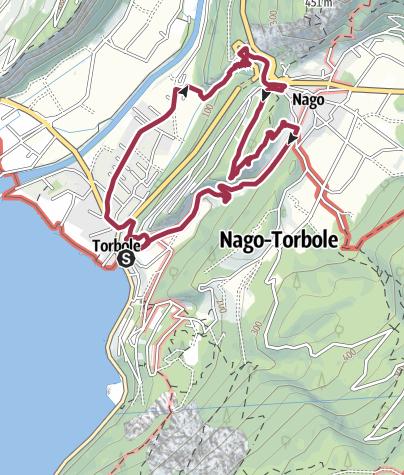 Map / Castel Penede and Strada Santa Lucia