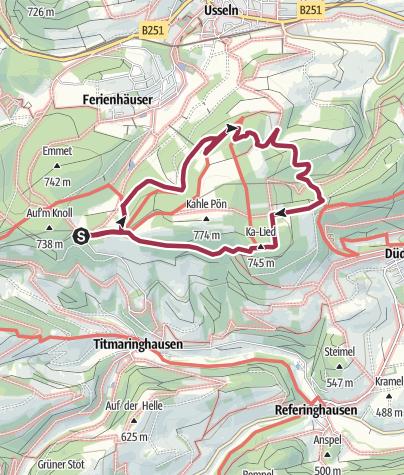 Karte / Blick-ins-Land Kahle Pön (Rothaarsteig-Spur und Qualitätstour)