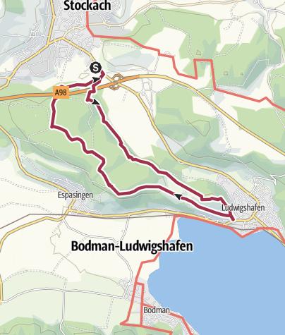Karte / Stockacher Seeblick - Rundtour mit Römerbrunnen und Kapellen