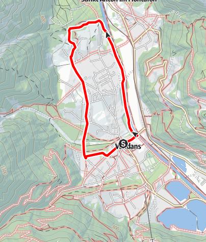 Karte / Vandans - Kapelle Venser  Bild
