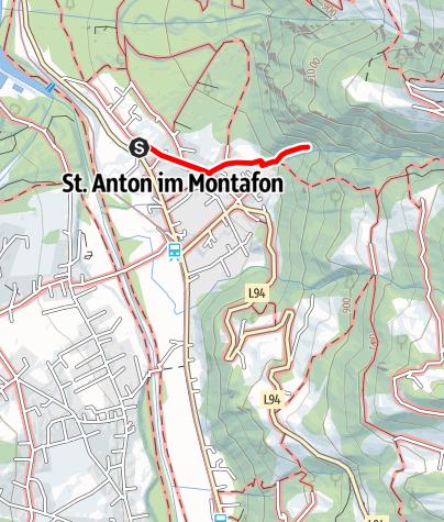 Karte / St. Anton im Montafon - Wasserfall