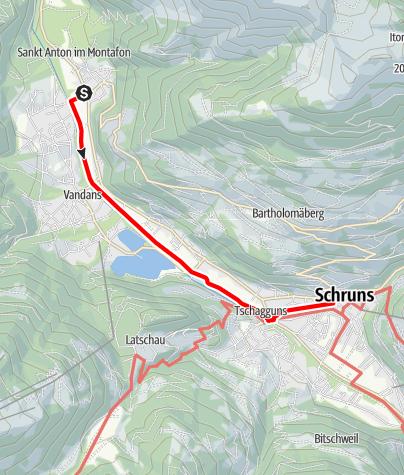 Karte / St. Anton - Schruns (Illweg)