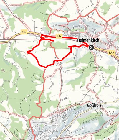 Karte / Wandern mit Geschichte >>> Weg 1