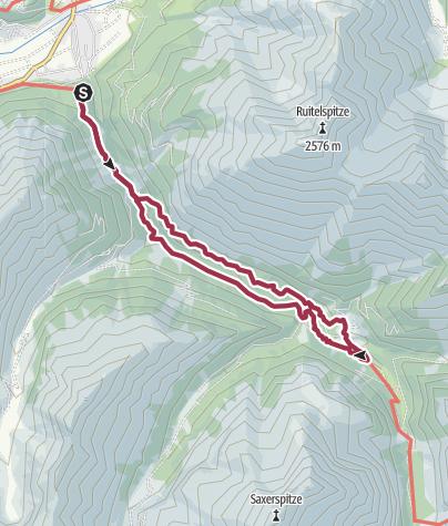Karte / Rundweg nach Madau