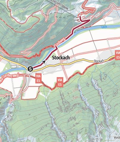 Karte / Stockach-Lechtaler Hexenkessel