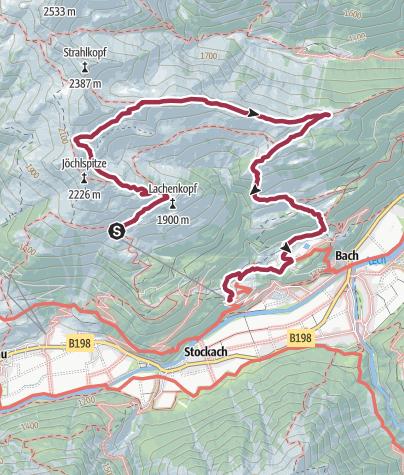 Karte / Panorama-Rundweg zur Bernhardseck-Hütte