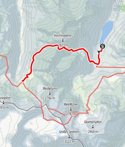 Karte / Vermuntsee - Tübinger Hütte