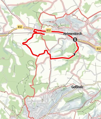 Karte / Wandern mit Geschichte >>> Weg 2