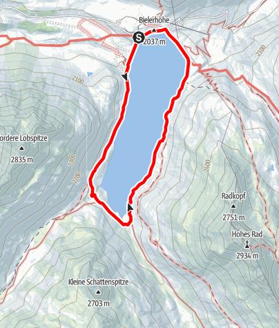 Karte / Silvretta-Bielerhöhe - Seerundweg