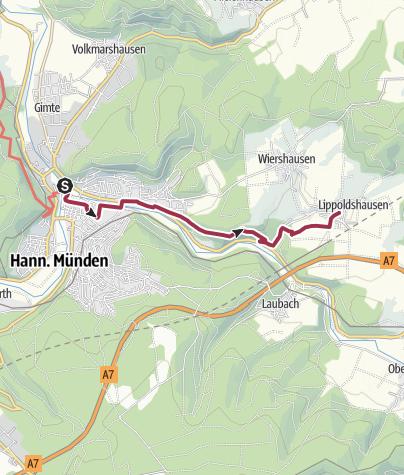 Karte / 1. Abschnitt-Werra-Burgen-Steig Hessen