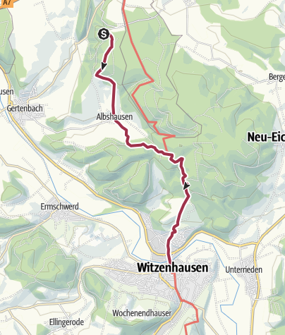 Karte / 3. Abschnitt-Werra-Burgen-Steig Hessen
