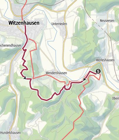 Karte / 4. Abschnitt-Werra-Burgen-Steig Hessen