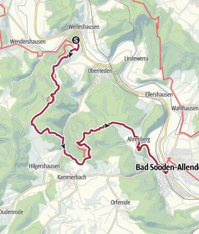 Karte / 5. Abschnitt-Werra-Burgen-Steig Hessen