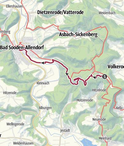 Map / 6. Abschnitt Werra-Burgen-Steig Hessen