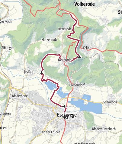 Karte / 7. Abschnitt-Werra-Burgen-Steig Hessen
