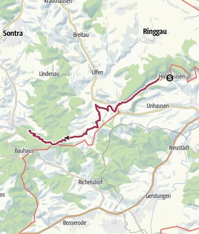 Karte / 11. Abschnitt Werra-Burgen-Steig Hessen