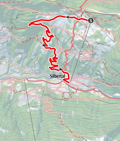 Karte / Kristberg - Silbertal