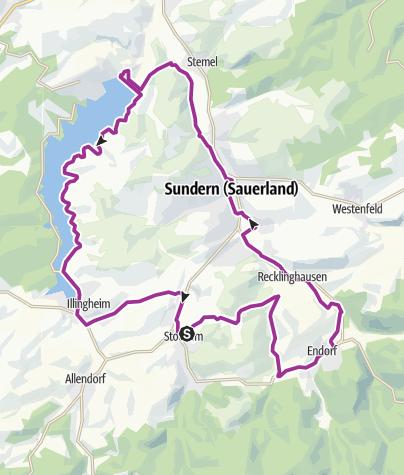 Karte / Tourenradweg Sauerländer Siebengebirge