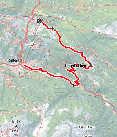 Karte / Kristberg - Siebenbrünnele - Buchen - Teufelsbach - Silbertal